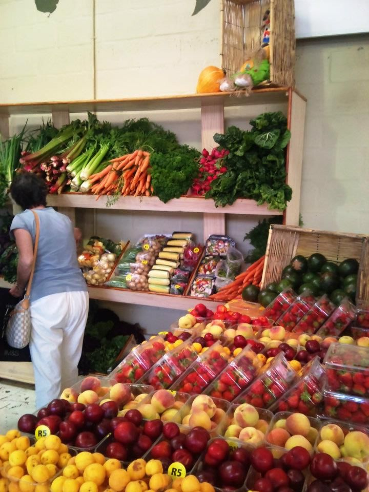 Fresh produce at the Earth Fair Market in Tokai, Cape Town. Well-priced and delicious!