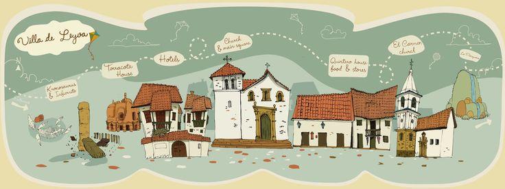 Ilustracion mapa de villa de leyva