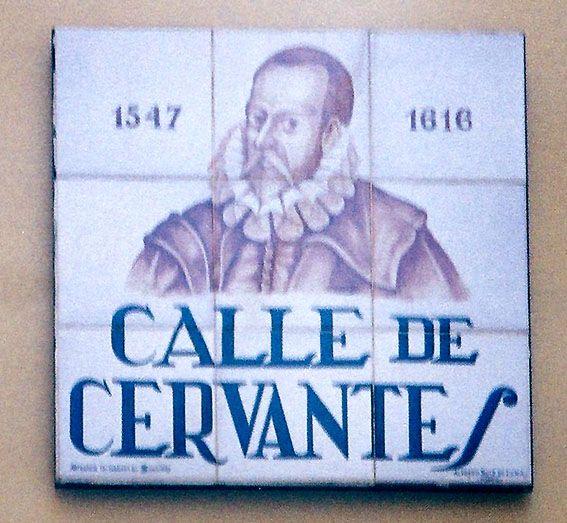 Calle de Cervantes, en Madrid, donde se halla la Casa de Lope de Vega.