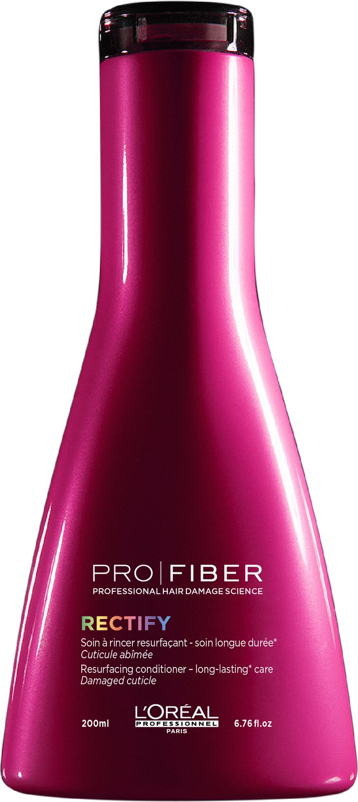 L'Oréal Professionnel PRO|FIBER Rectify Resurfacing conditioner 200ml. Acondicionador reperador para desenredar el cabello y facilita el peinado
