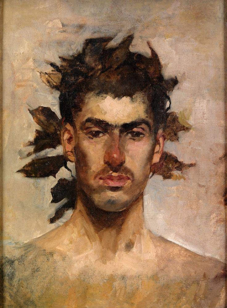Ignacio Pinazo Camarlench: Bacchus portrait - second half 19th century