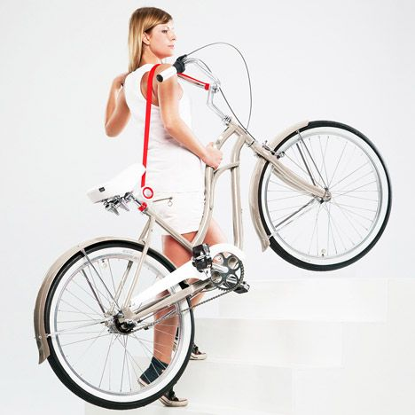 Bike Lift and Carry by Aleksandr Mukomelov. Would be great for thru a door going up stairs!