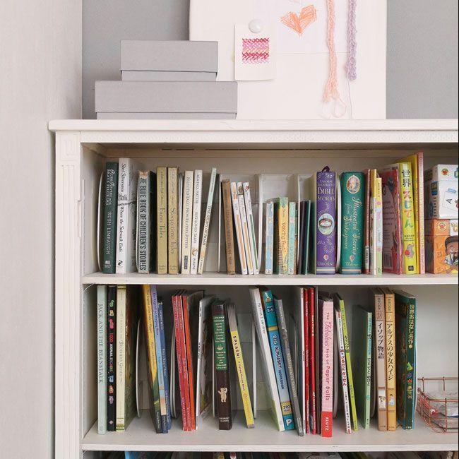 あそび育 |   こどもが自分でお片づけできる本棚の工夫