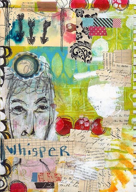 Art Journal Page - WHISPER, via Flickr.