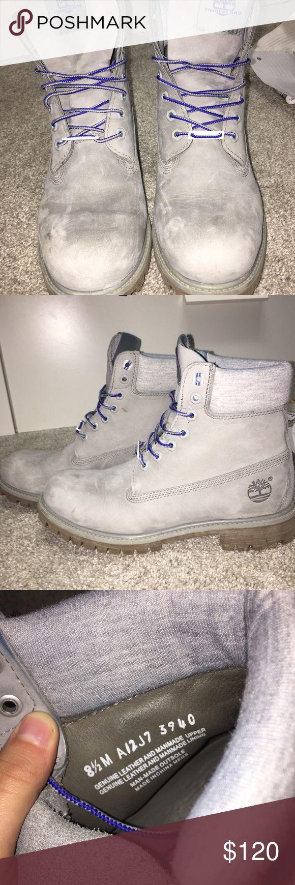Grey Suede Timberland Boots Men's grey Timberland Boots Great Condition Timberland Shoes Boots