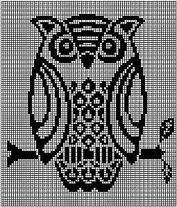 Cross stitch owl pattern