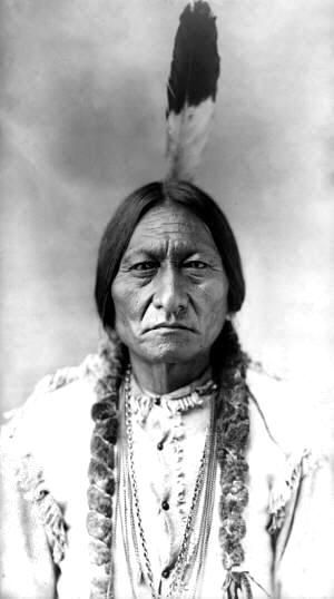 Sioux Chief Sitting Bull - Sioux, or Dakota, Indians, a large and powerful tribe of Indians, who were found by the French, in 1640, near the headwaters of the Mississippi River. The Algonquiens called them Nadowessioux, whence they came to be called Sioux. They occupied the vast domain extending from the Arkansas River, in the south, to the western tributary of Lake Winnipeg, in the north, and westward to the eastern slopes of the Rocky Mountains.