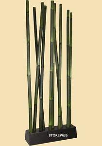 paravent bambou tubes vert 1 pan ebay - Fly Bambou