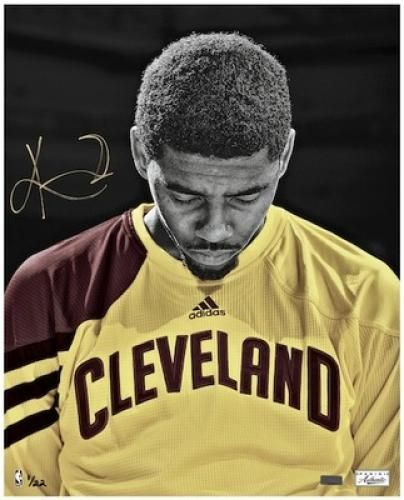 "Kyrie Irving Autographed Photograph with ""Moment"" Inscription - Sports Memorabilia"