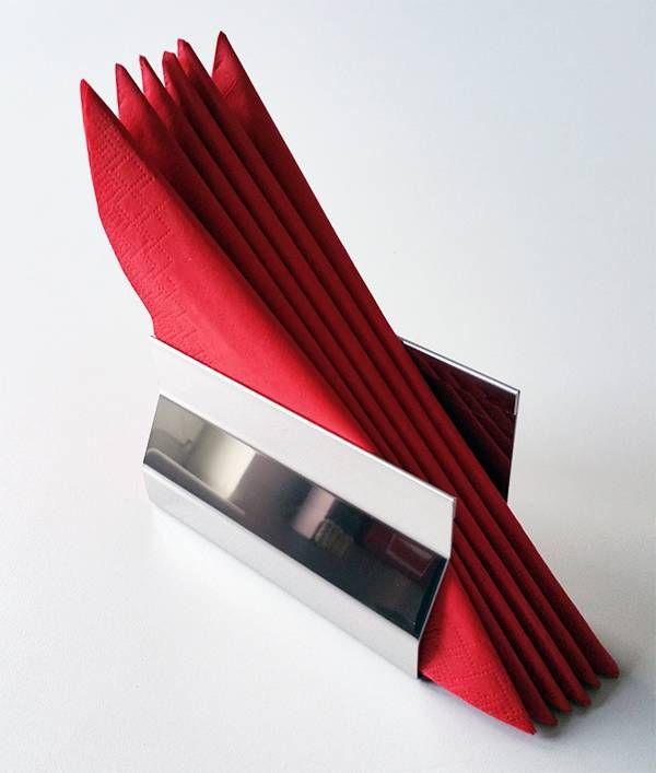 Versandmetall Eleganter Serviettenhalter Serviettenspender Edelstahl IIID spiegelnd/glänzend