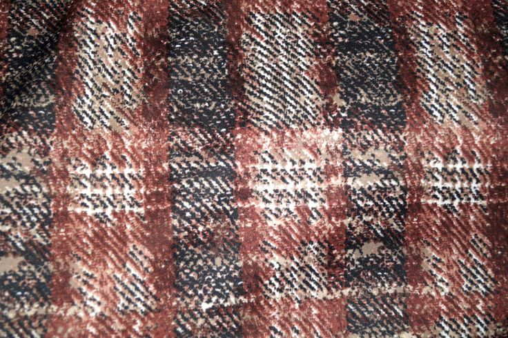 B95 Wintertricot ruit bruin/zwart