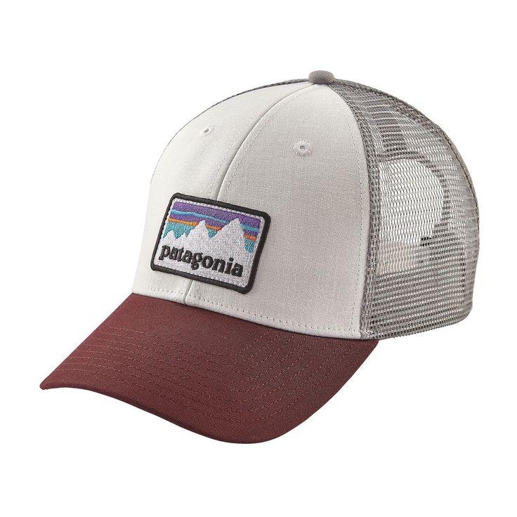 Patagonia Shop Sticker Patch LoPro Trucker Hat - White