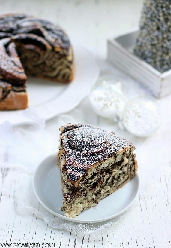 Świąteczna zebra makowo bakaliowa - Poppy Seed Zebra Cake (recipe follows in English)