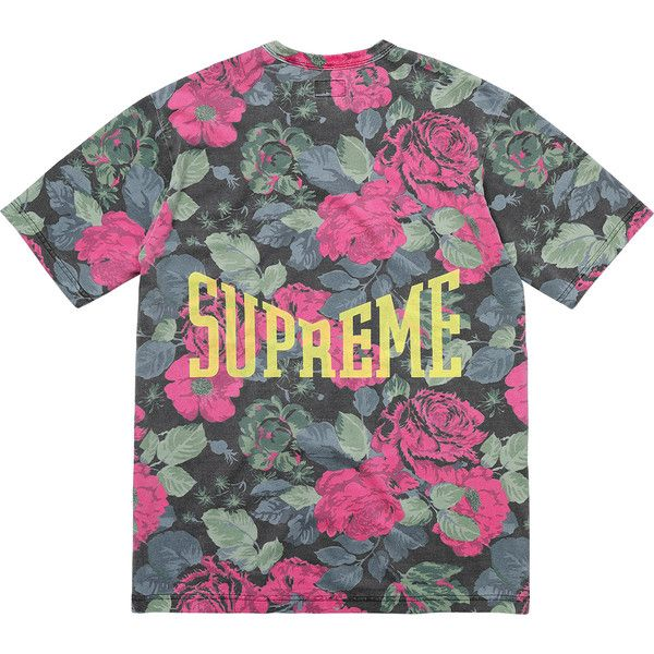 supreme flower shirt