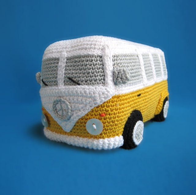 free run  2 womens shoes turquoisewhitepink VW  Inspired  Bus Amigurumi Pattern