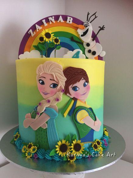 Frozen Fever Cake For My Daughter Zainab Frozen Fever Pinterest