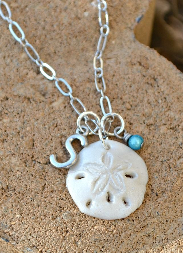 Sand Dollar Necklace made with Sculpey Clay #ThisisStyle #cbias #shop