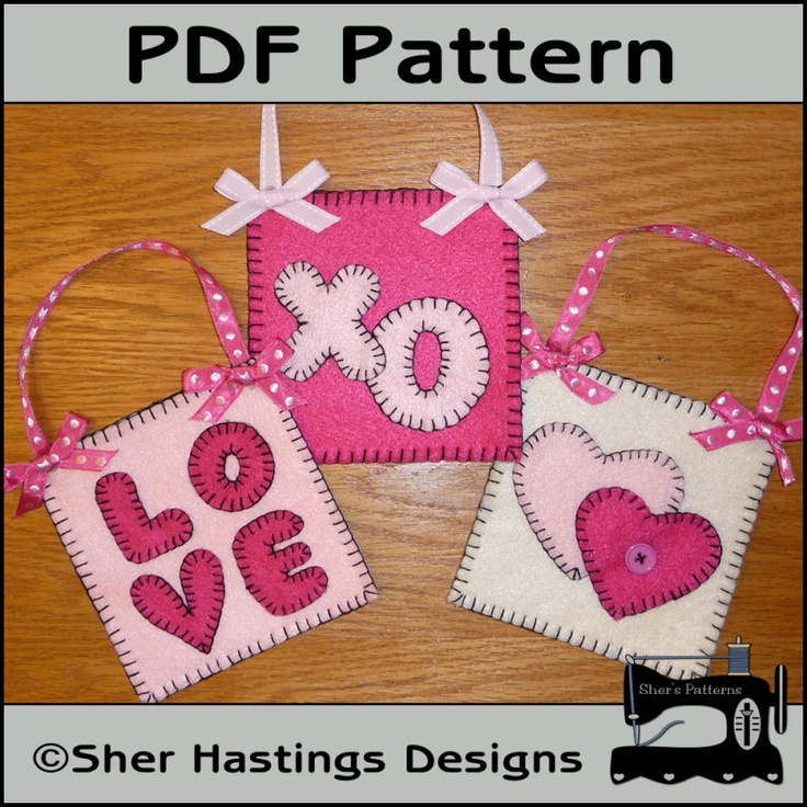 Felt Valentine Treat Bags Or Valenting Gift Card Holders