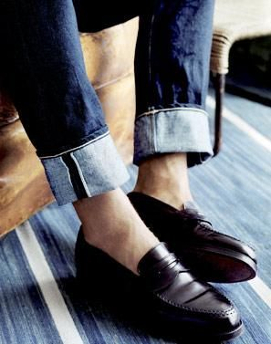 penny loafers from Ralph Lauren. Used to wear loafers, jeans and white tees in high school. Good ol days..