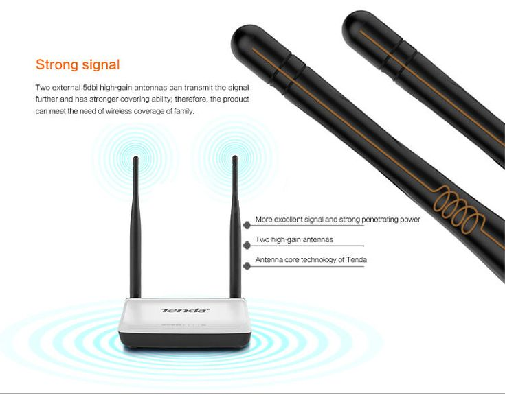 Original Tenda N300 English Firmware Version 300Mbps Wireless WIFI Router Sale - Banggood.com  #tablet #computer #technology #accessories