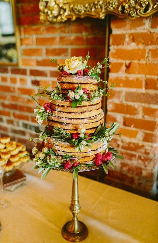 Naked cake with wintery feel.
