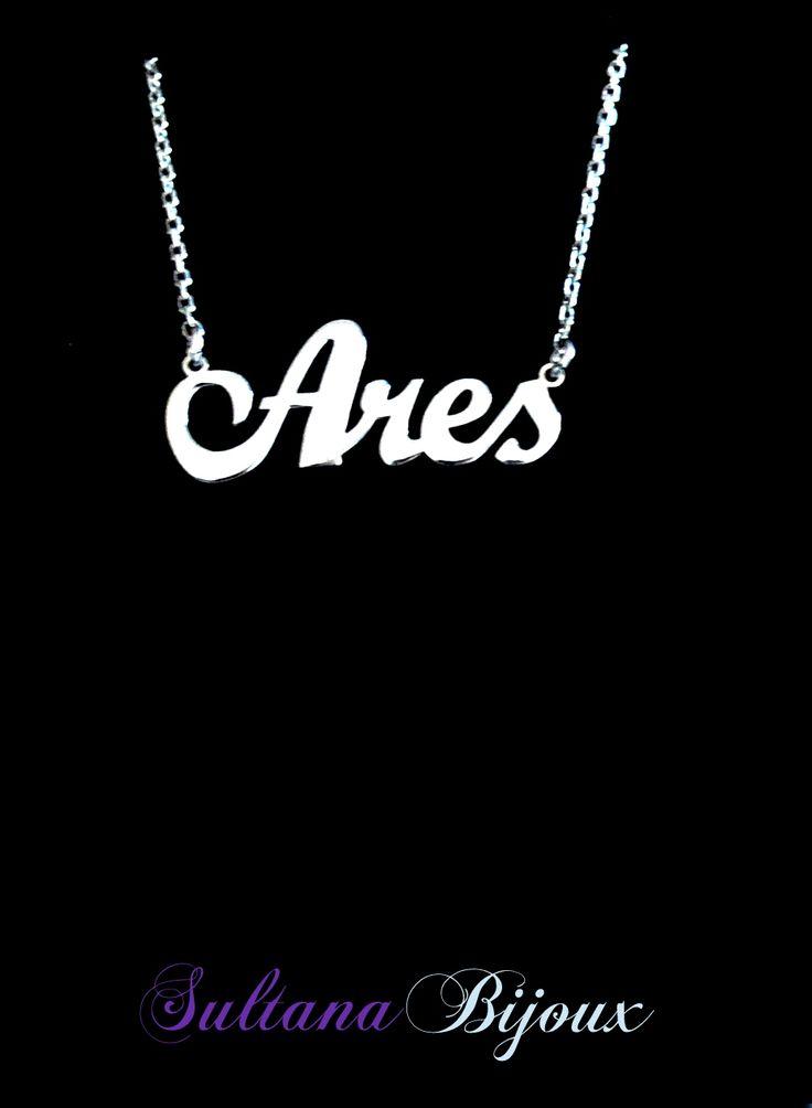 Colier din argint 925 personalizat cu numele Ares. Realizam la comanda cu numele ales de d-voastra. Lungime lant: 40 - 45 cm Lantisor reglabil