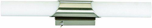 LED Badlampe, Spiegelleuchte, Wandlampe 2xE14 / 40W, matt-nickel - http://led-beleuchtung-lampen.de/led-badlampe-spiegelleuchte-wandlampe-2xe14-40w-matt-nickel/ #BadBeleuchtung