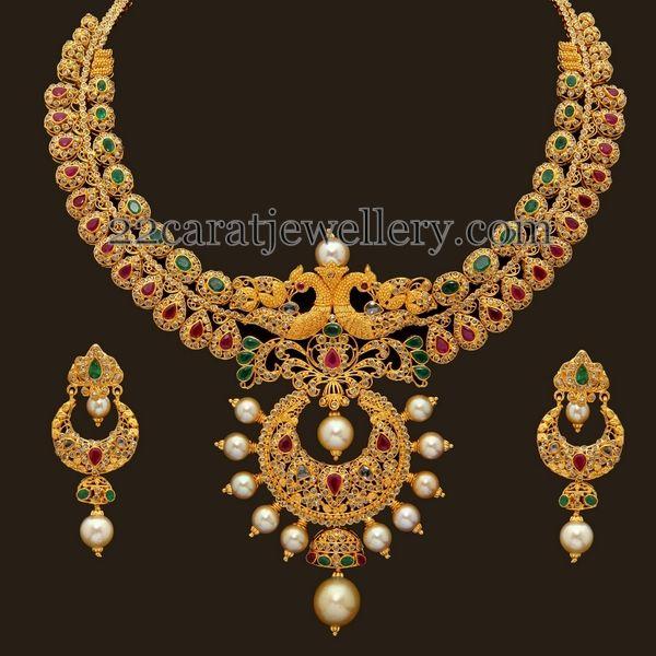 Jewellery Designs: uncut diamond necklace