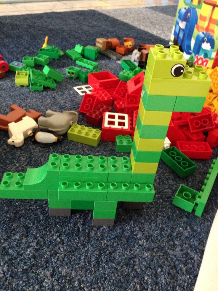 Constructiehoek: Lego duplo instruction dino