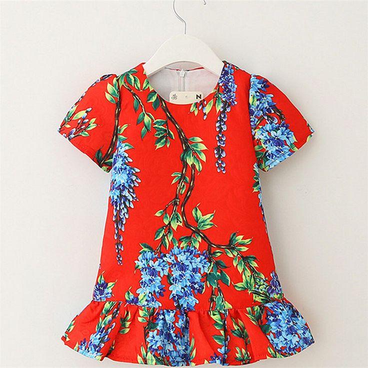 $27.98 (Buy here: https://alitems.com/g/1e8d114494ebda23ff8b16525dc3e8/?i=5&ulp=https%3A%2F%2Fwww.aliexpress.com%2Fitem%2F2015-Cotton-Girls-Dresses-Summer-2015-Flower-Children-Girl-Dress-Floral-Clothing-Flower-Casual-Girls-Princess%2F32390652827.html ) Girls Dresses New 2016 Spring Autumn Flower Kids Dresses for Girls Children Clothing Casual Girls Princess Vestidos de menina for just $27.98