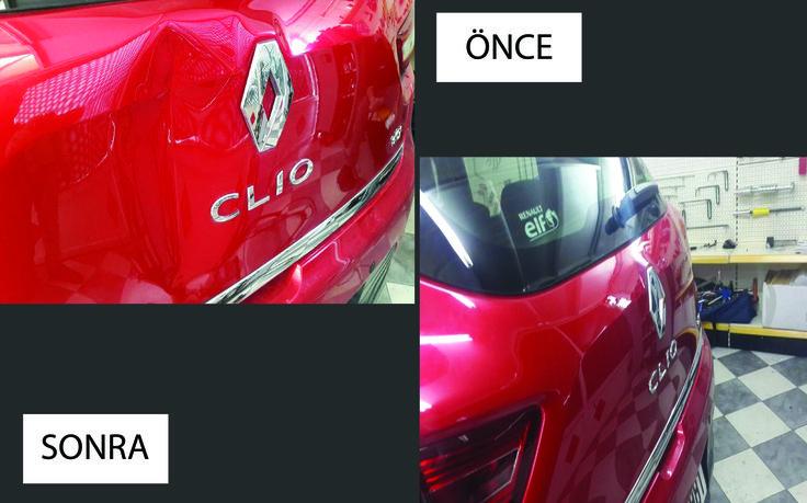 Clio Boyasız göçük düzeltme uygulaması  #otopars #boyasız #göçük #düzeltme