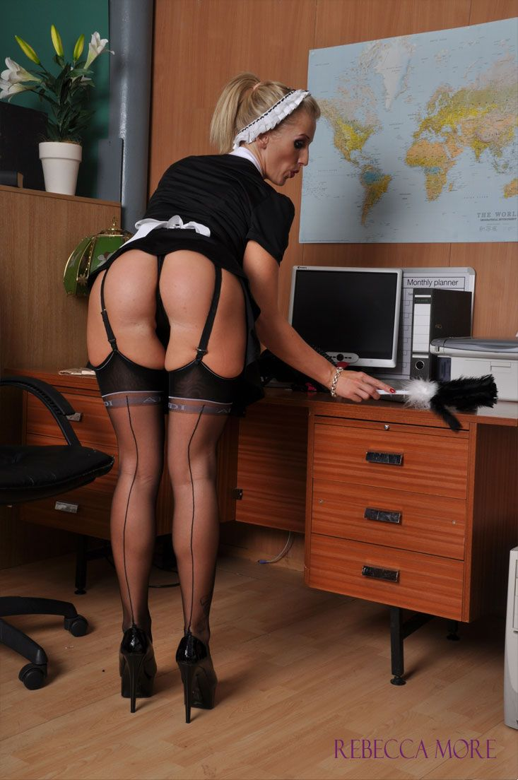 French maid teaches fucking