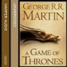 A Song of Ice and Fire series by George R. R. Martin.  Roy Dotrice has won awards for his narration, and now that I'm through the first two books I can hear why. Get your money's worth as well, each book is loooooooong!