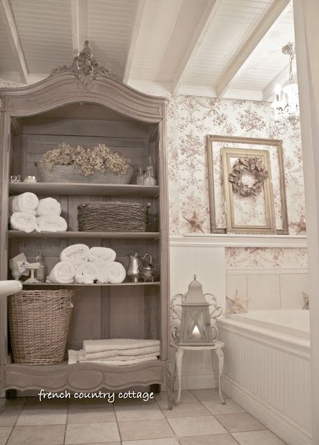 FRENCH COUNTRY COTTAGE: Cottage Bathroom~Inspirations: