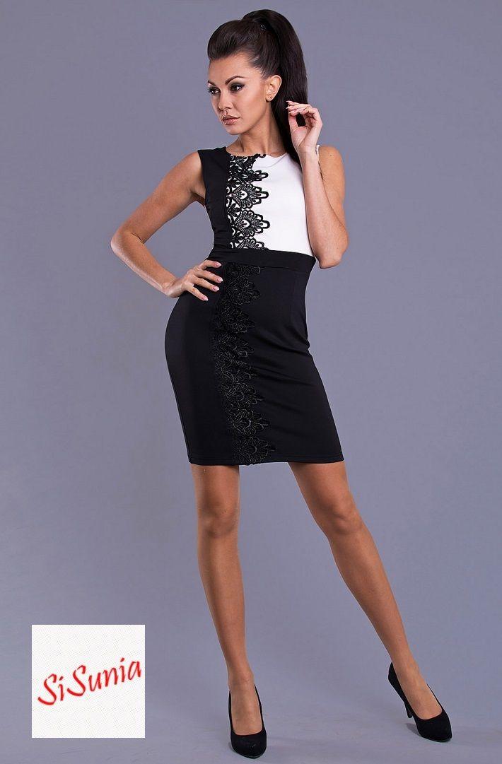 Sukienka white and black ZAPRASZAM NA facebook'a SiSunia shop