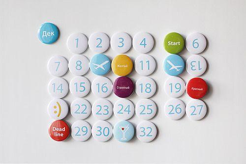 Dorogaya perpetual magnet calendar