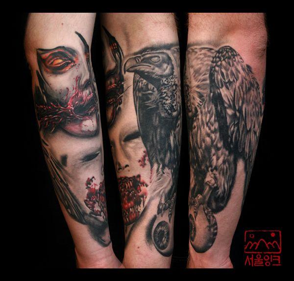 26 best Vulture Arm Tattoos images on Pinterest | Arm ...