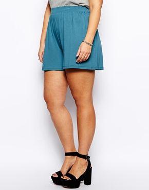 Aumentar Falda pantalón de punto en color verde azulado de ASOS CURVE
