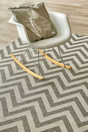 Grey Herringbone (2.4 X 3.4): Water-resistant, durable poly-propylene woven flatweave (2.4 x 3.4m). Make a sta...