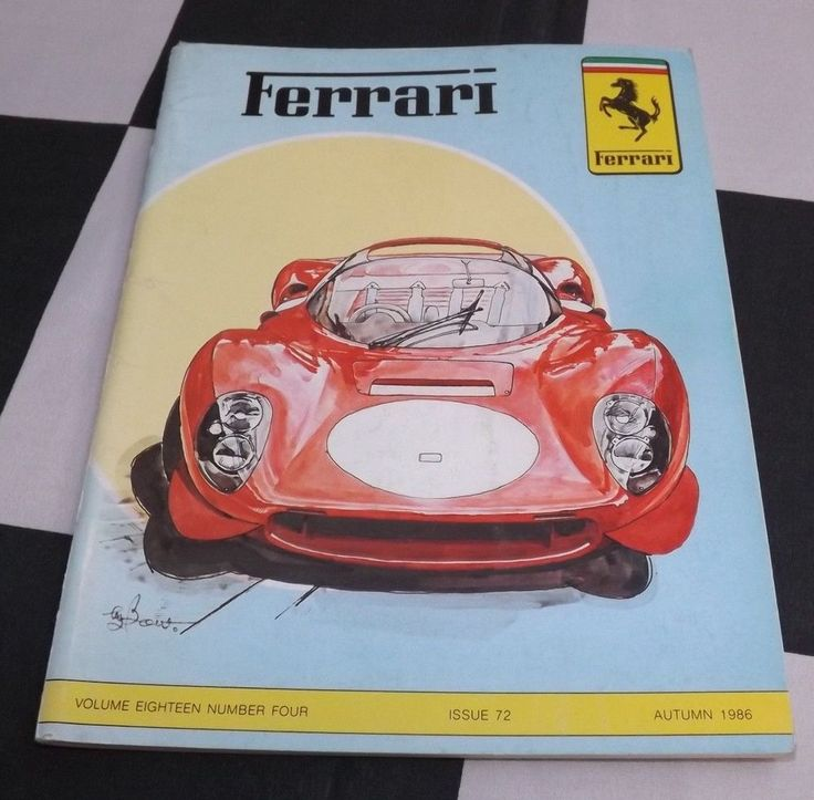 FERRARI OWNERS CLUB MAGAZINE AUTUMN 1986 No. 72 FERRARI 250 GT ELLENA 750 MONZA