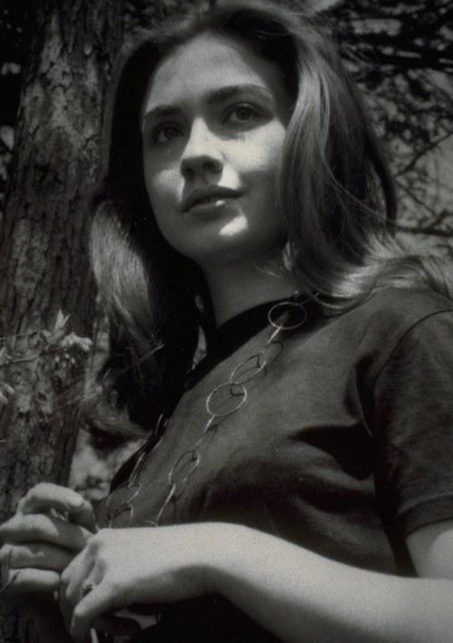 Hillary Clinton, aged 22