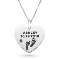 Baby name and date necklace