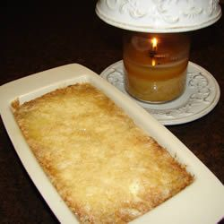 Easy 3 ingredient apple cobbler.  2 cans apple pie filling, 1 white (or caramel) cake mix, 1/2 cup butter.  Bake at 350 for 30 minutes.  Delish!