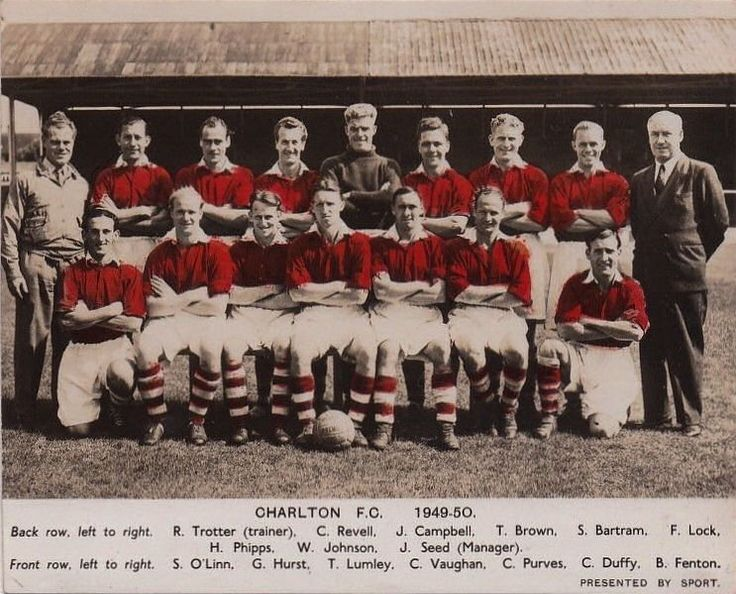 Charlton Athletic team group in 1949-50.