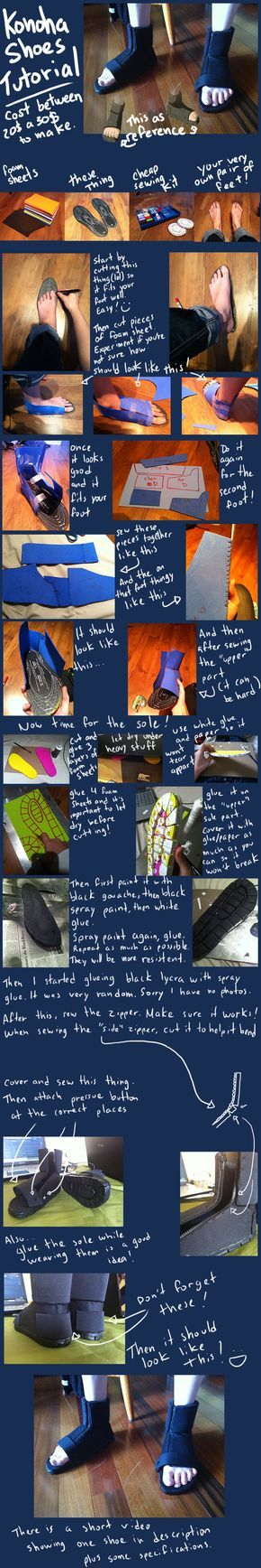 Naruto - Konoha Shoes Tutorial by Aruthe.deviantart.com on @DeviantArt