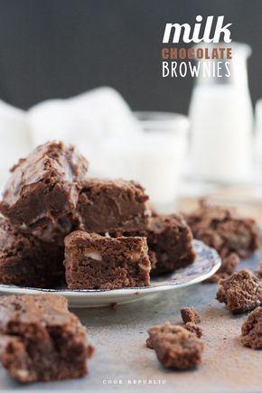 Milk Chocolate Brownies - Cook Republic