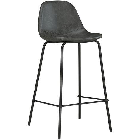 Chaise De Bar Mi Hauteur Henrik Noire 65 Cm Lot De 2 3911 Chaise Bar Tabouret Cuisine Chaise De Bar Design