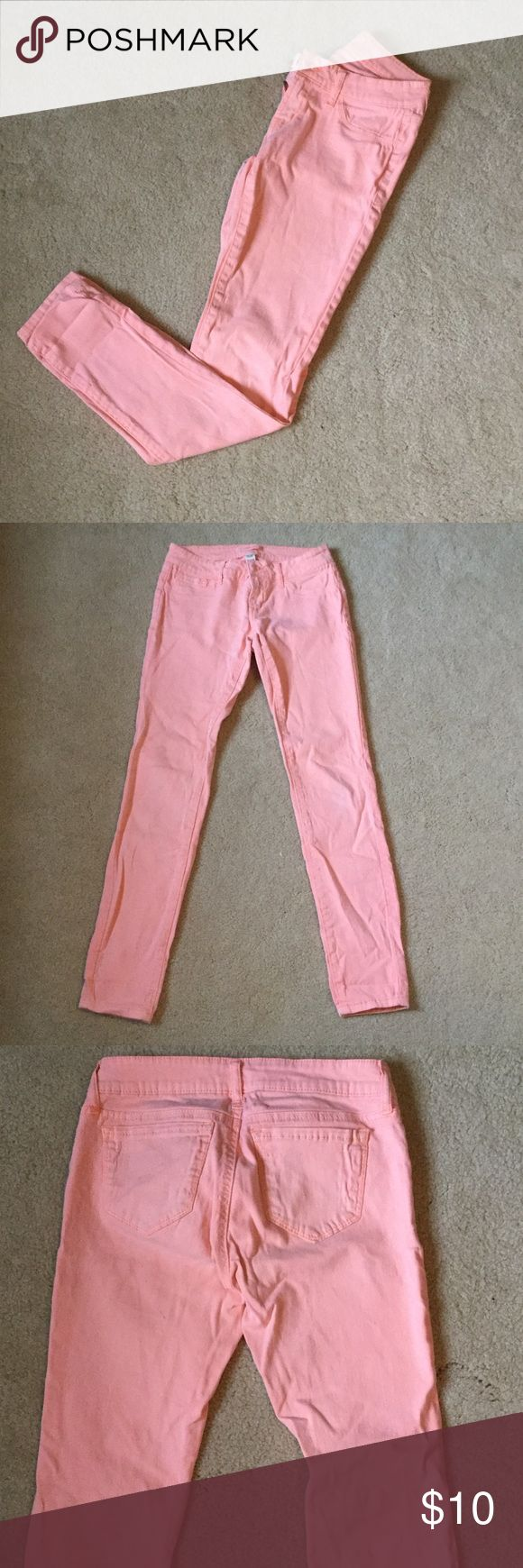 Peach skin tight legging jeans Only worn once. 98% cotton 2% spandex Charlotte Russe Jeans Skinny