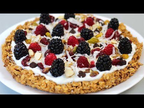 Healthy Breakfast Pizza With Granola Crust, Yogurt And Berries (Vegetarian) - TipBuzz