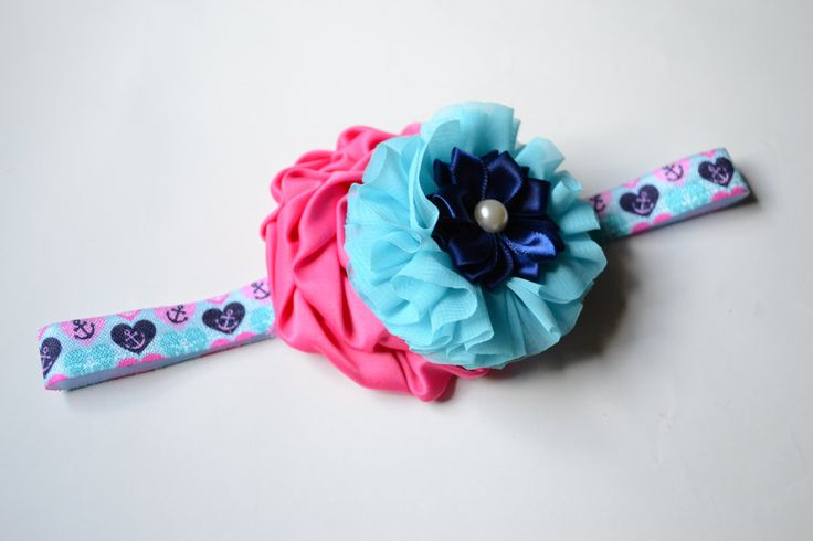 Anchors Away Summertime Beach Fun FOE Headband by Retail4Rescues on Etsy